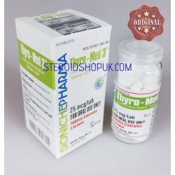 Thyro-Med 3 Bioniche Pharma (Liothyronine Sodium) 60tabs (25 mcg / tab)