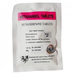 Methanabol comprimés British Dragon 100 tabs [10mg/tab]