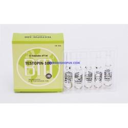 Testopin 100 BM Pharmaceuticals (Propionate de testostérone) 12ML (flacon 6X2ML)
