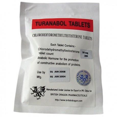 Turanabol tabletas British Dragon 200 fichas [10mg/tab]